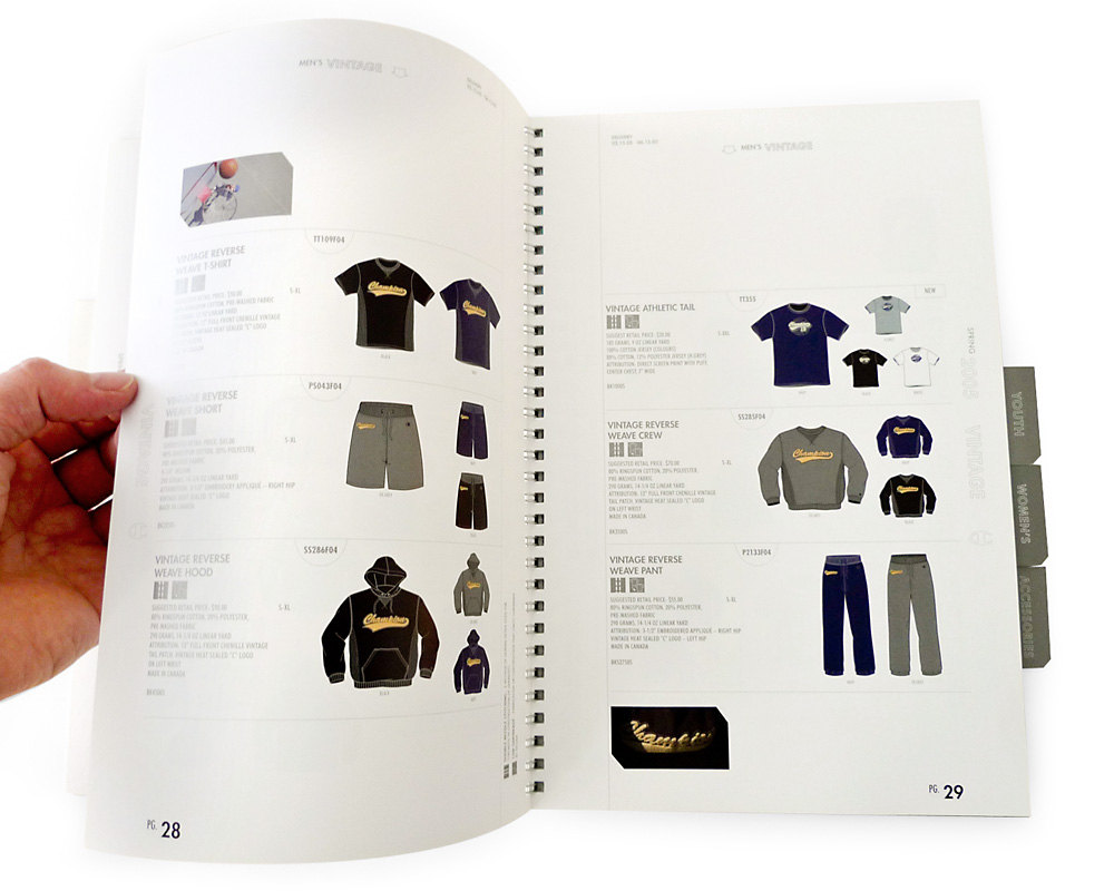 Champion sportswear catalogue chris young design art director and graphic designer vancouver bc for Catalogue staff decor pdf