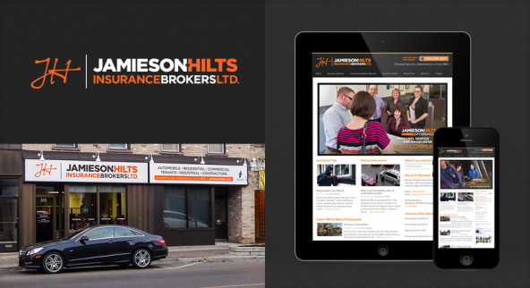 Jamieson-Hilts Insurance Brokers rebrand.